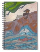 Fishing At The Cove Spiral Notebook