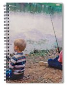 Fishing At Watkins Mill Spiral Notebook