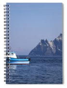 Fishing Boat Near Little Skellig, County Kerry, In Spring Sunshine, Ireland Spiral Notebook