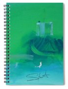 Fishing Boat With Seagulls Spiral Notebook