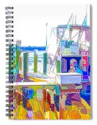 Fishing Boats 2 Spiral Notebook