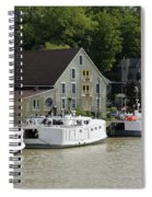 Fishing Boats All In A Row Spiral Notebook