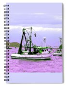 Fishing Boats At Pearl Beach 1.0 Spiral Notebook