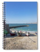 Fishing Boats In Sennen Cove Spiral Notebook