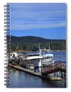 Fishing Boats In Sooke Spiral Notebook