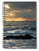 Fishing Boats Off Point Lobos Spiral Notebook