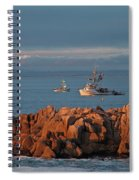 Fishing Boats On Monterey Bay Spiral Notebook