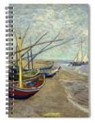 Fishing Boats On The Beach Spiral Notebook