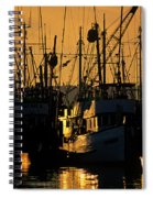 Fishing Boats Sunset Light Spiral Notebook