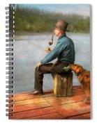 Fishing - Booze Hound 1922 Spiral Notebook