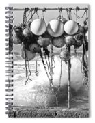 Fishing Buoys In Black And White Spiral Notebook