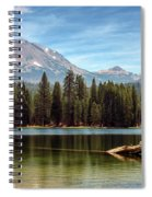 Fishing By Mount Lassen Spiral Notebook