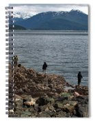 Fishing False Outer Point Spiral Notebook
