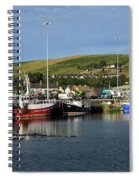 Fishing Fleet At Dingle, County Kerry, Ireland Spiral Notebook