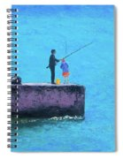 Fishing From The Pier Spiral Notebook
