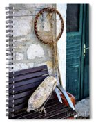 Fishing Gear In Primosten, Croatia Spiral Notebook