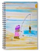 Fishing Girl Spiral Notebook
