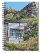 Fishing Huts Cape Cornwall Spiral Notebook