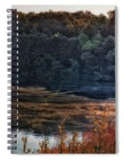 Fishing In The Fog Spiral Notebook