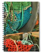 Fishing Net Portrait Spiral Notebook