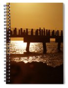 Fishing Off The Pier At Fort De Soto At Dusk Spiral Notebook