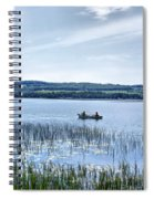 Fishing On Lake Carmi Spiral Notebook