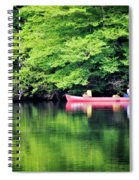 Fishing On Shady Spiral Notebook