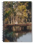 Fishing On The Bridge Spiral Notebook