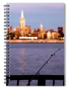 Fishing On The Hudson Spiral Notebook