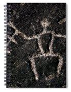 Fishing Petroglyph Spiral Notebook