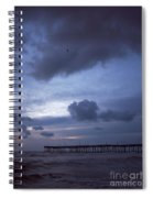 Fishing Pier At Dawn Spiral Notebook