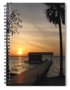 Fishing Pier At Dusk Spiral Notebook