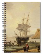 Fishing Scene, Teignmouth Beach And The Ness, 1831 Spiral Notebook