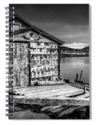 Fishing Shack And Wharf In Norris Point, Newfoundland Spiral Notebook