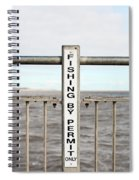 Fishing Sign Spiral Notebook