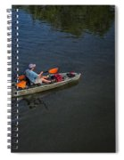 Fishing The Bypass Canal  Spiral Notebook