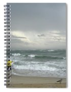 Fishing Through The Storm - Diamond Shoals Nc Spiral Notebook