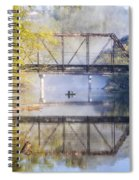 Fishing Under The Trestle Spiral Notebook