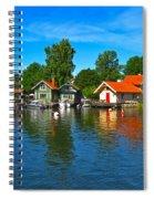 Fishing Village Of Vaxholm Sweden Spiral Notebook