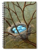 Five Blue Eggs Spiral Notebook
