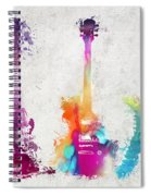 Five Colored Guitars Spiral Notebook