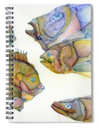 Five Fading Fish Spiral Notebook