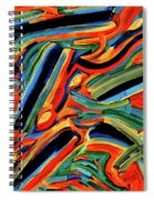 Five Gold Whales Spiral Notebook