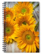 Five Moody Sunflowers Spiral Notebook