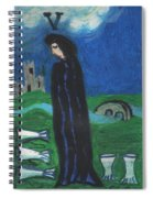 Five Of Cups Illustrated Spiral Notebook