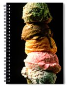 Five Scoops Of Ice Cream Spiral Notebook