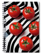 Five Tomatoes  Spiral Notebook