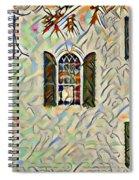 Five Windows Watercolor Spiral Notebook