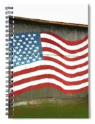 Flag And Barn - Painting Spiral Notebook