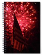 Flag And Fireworks Spiral Notebook
